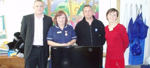 Gift of 40 inch TV to Hospice
