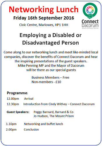 Sept Networking Event Connect Dacorum